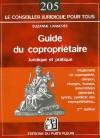 Guide du copropriétaire -   3e édition  - Suzanne Lannerée  - Droit des affaires - LANNEREE S. - Libristo
